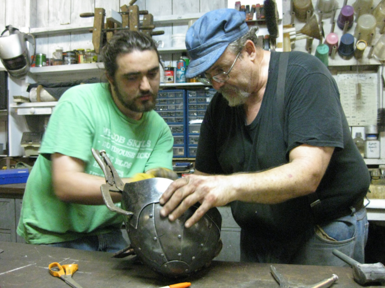 Stephen-bloom-making-armour